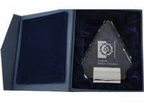 crystal trophy gift box