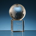 globe crystal trophy awards