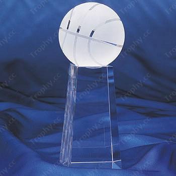 Basketball Kristall Briefbeschwerer