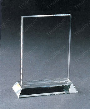 Blank Optical Crystal Frame Award Blank