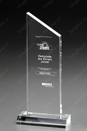 Abgeschrägte Platz Kristall-Rahmen Auszeichnung Plakette