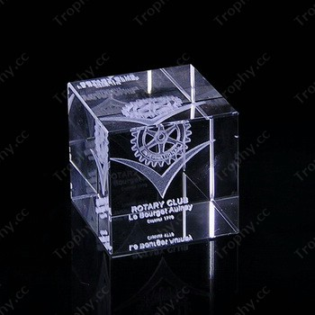 3d Laser Engraving Cubic Crystal Paperweight