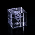 3d laser etched crystal cube