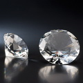blank diamond crystal glass paperweight