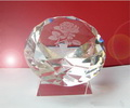 engraved diamond paperweight on base