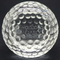 optic crystal golfball with cutting area engraved