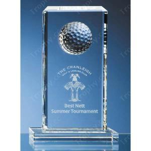 Golf Kristallglas Plakette