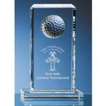 crystal golf trophy plaque