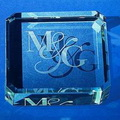 jade glass cube paperweight
