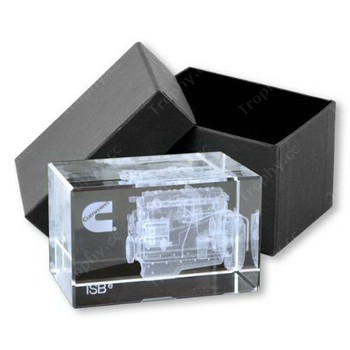 3D-Lasergravur Kristall Würfel Geschenk-Box