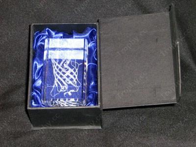Kristallwürfel Briefbeschwerer Geschenkbox