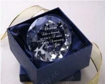 Blau Satin Kristall Gefüttert Geschenkbox
