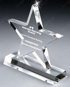 gravierten Kristall-Sterne-Auszeichnung