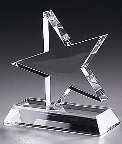 abgeschrägte Sterne KristallglasAuszeichnung
