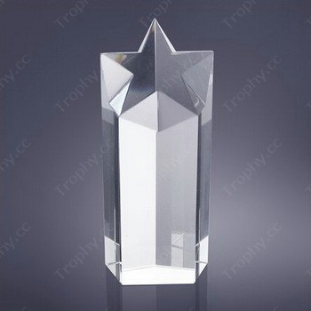 Kristall Stern Prisma Trophäen vergibt leer