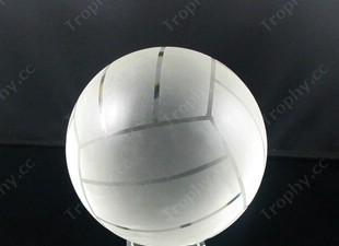 Kristallglas-Volleyball